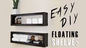 How To Make Floating Shelves With Lights Build And Mount Your Own Floating Shelves For About Seven Bucks