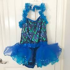 A Wish Come True Size Chart A Wish Come True Dance Costume Girls Child Blue Ruffle Sequin Biketard Xlc Ebay