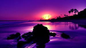 Ocean Sunset Wallpaper Beach Sunset Backgrounds Purple