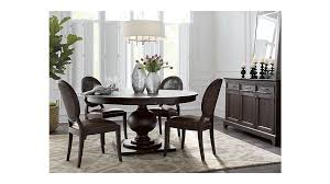 winnetka 60 round dark mahogany extendable dining table reviews crate and barrel