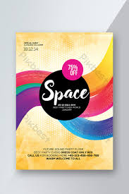 Flyer Poster Templates Abstract Gradient Style Flyer Templates Colorful Poster