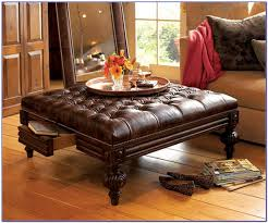 coffee table tufted leather ottoman me gardens uk round brown with st tables costco rectangle pottery bar