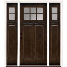 67 5 in x81 625 in 6 lt clear craftsman stained chestnut mahogany right