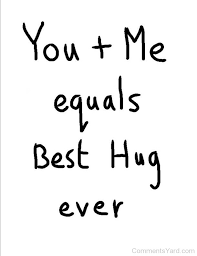 you me equals best hug ever cy1126