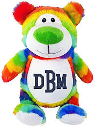 Amazon Com Personalized Stuffed Rainbow Bear With Embroidered