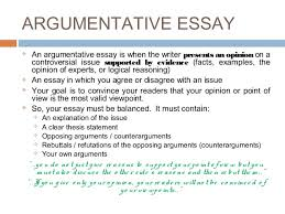 argumentative essay argumentative