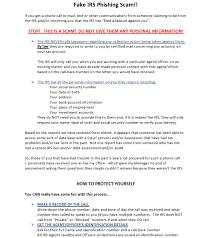 Phishing Fake Scam Fake Irs Irs