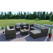rattan garden furniture l shape sofa