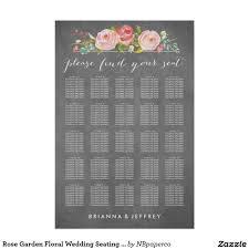 Rose Garden Floral Wedding Seating Chart Zazzle Com