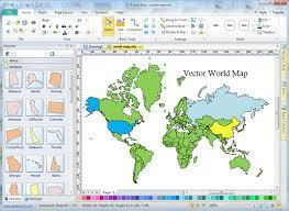 Free Vector World Map Editable
