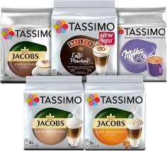<b>Кофе капсульный Tassimo Кофе</b> с молоком, 5 упаковок