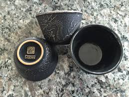 teavana imperial dragon cast iron tea cups 3 oz