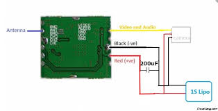 diy mini 5 8ghz fpv video transmitter and 1g camera micro splicing security camera wires at Security Camera Module Wiring Schematic