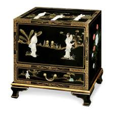china furniture and arts black lacquer pearl figure motif lamp table side tables and chinese inspired furniture