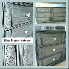silver painted furniture. Silver Painted Bedroom Furniture Excellent Dresser Header Metallic . N