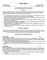 Warehouse Resume Examples Beauteous Warehouse Manager Resume Templates Senior Warehouse Manager Resume