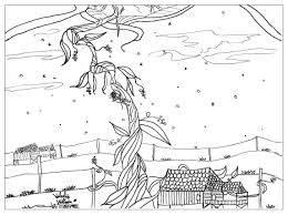Jack Beanstalk Fairy Tales Adult Coloring Pages