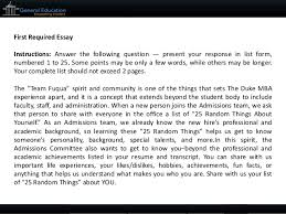 duke fuqua mba sample essays tips and deadlines 5