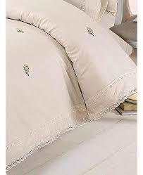 cream yellow alicia fl king size duvet cover and pillowcase set