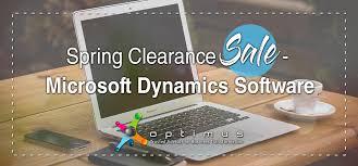 Spring Clearance Sale Microsoft Dynamics Software Optimus Guru