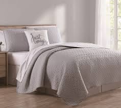 white quilt queen.  Quilt 4 Piece Marshall GrayWhite Quilt Set Queen Intended White O