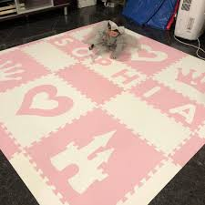 Light Up Floor Mat Easy Personalize Softtiles Princess Play Mat In Light Pink