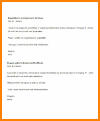 7 Certificate Of Employment Request Letter Handyman Resume