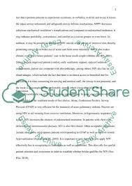 Refer to these numerous examples and templates to ensure your case study is unique. Non Invasive Ventilation Essay Example Topics And Well Written Essays 500 Words