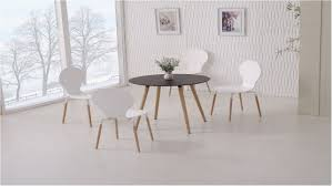 incredible round wooden black dining table and 4 white chairs white round dining table and