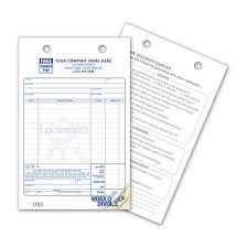 locksmith invoice forms locksmith invoice form work order designsnprint