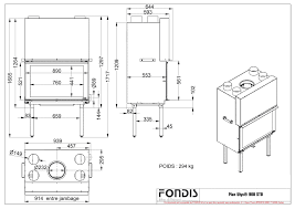 standard stove width. Plain Width Wood Burning Stove Technical Details Picture For Standard Stove Width D