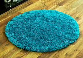 new turquoise blue 133x133cm round rugs 5cm thick non shed best quality circle rugs