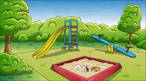 playground clipart an outdoor playground background cartoon clipart vector toons clipart