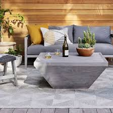 teak wood square outdoor coffee table