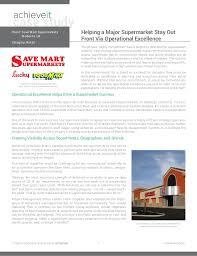 Achieveit Case Study Save Mart Supermarkets
