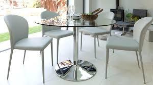 modern round glass table chrome pedestal 4 seater table modern round dining table for 4 modern