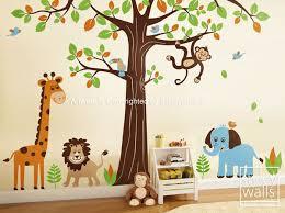 nursery wall art jungle theme