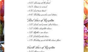wedding reception agenda template wedding reception honeymoon timeline template agenda printable c