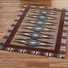 interior cool southwestern style rugs area southwest design ideas with whiskey river turquoise rug all about