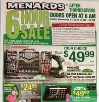 Menards Black Friday Page 1
