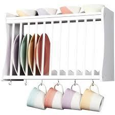 minack kitchen plate rack in white