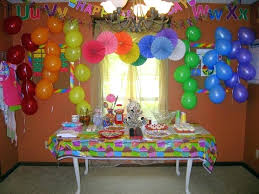 birthday room simple decoration ideas at home classic party in