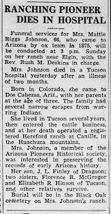 Mattie (Riggs) Johnson obituary - Newspapers.com