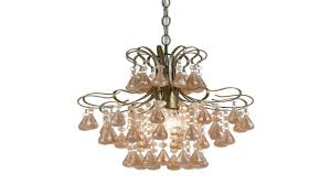 tadpoles four bulb chandelier pink
