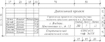 Краткая характеристика состава проекта Студопедия Образец заполнения штампа чертежа в дипломном проекте