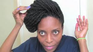 Kinky Twist Hairstyles Kinky Twists Updo Tutorial Natural Hair Styles For Mature Women