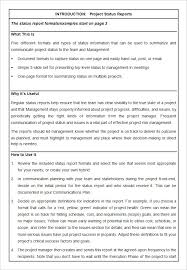 Status Report Format Sample Project Status Report Template 10 Free Word Pdf Documents