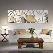 dining room wall decor with mirror. Acrylic Mirror Wall Decor Art 3D DIY Stickers Living Room Dining Bedroom With