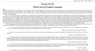 custom stylesheet for george orwell essay archive gavin wray politics and the english language before custom styles