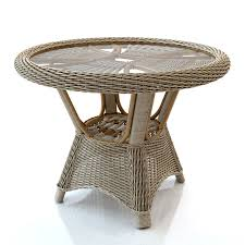 rattan table round royalty free 3d model preview no 1